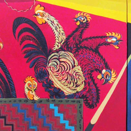 The poultry Fable (Triptych)